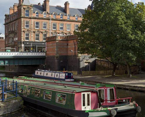 Nottingham Canal at Carrington Street Bridge