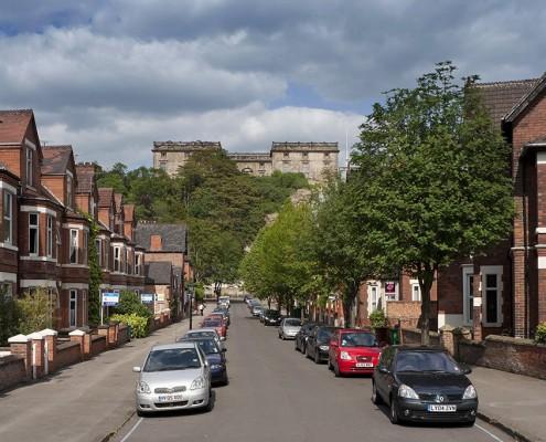 Hope Drive towards Nottingham Castle
