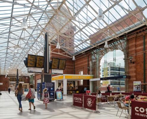 Inside Nottingham Station Porte Cochere - BDP