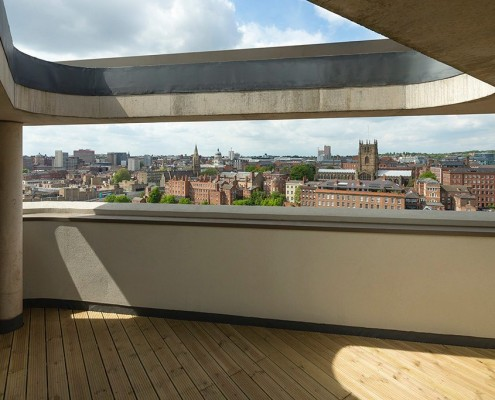 Lace Market seen from Nottingham One - Levitate Architects