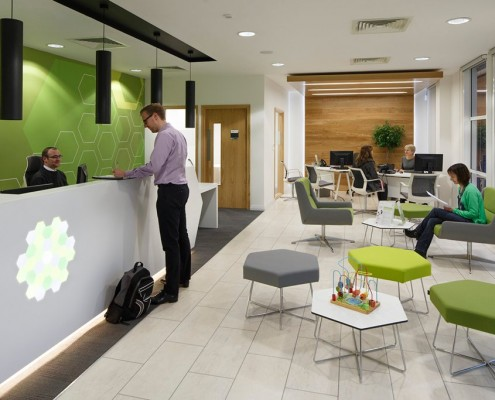 Land Registry foyer - Franklin Ellis Architects