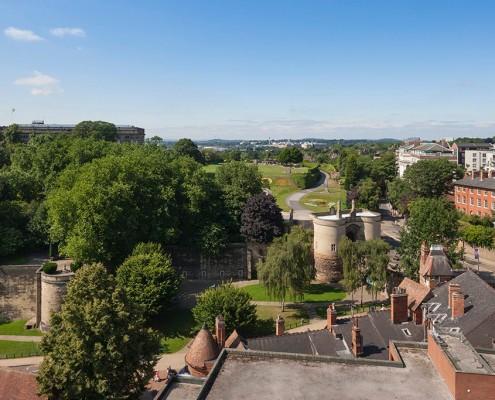 Nottingham Castle Gatehouse and grounds