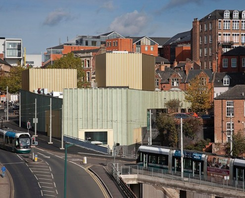Nottingham Contemporary and trams
