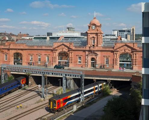 Nottingham Station towards Port Cochere
