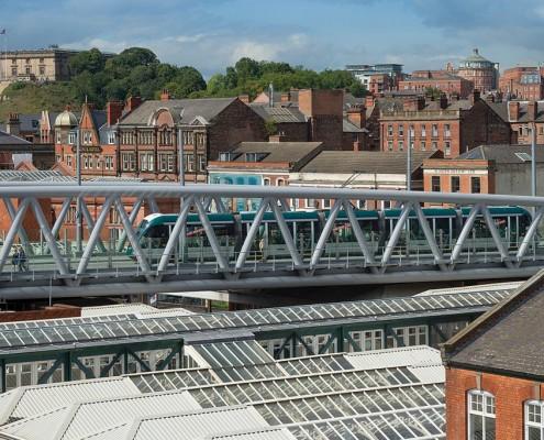 Nottingham Tram Interchange towards The Castle - BDP