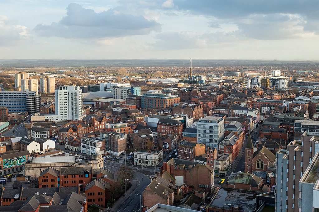 Aerial Views And Skyline Photographs Of Nottingham City