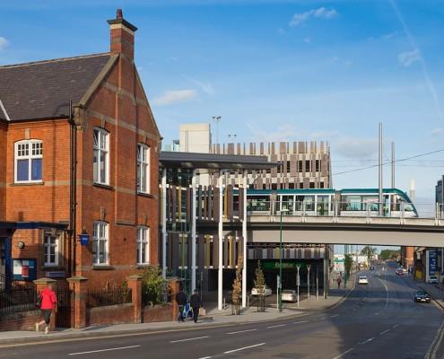 Queens Road and Nottingham Station tram Interchange