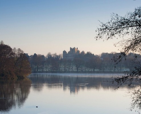 Wollaton Hall across the lake - Robert Smythson 1588