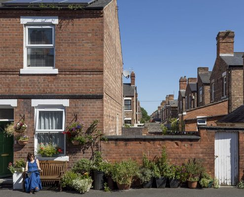 Victorian terraced housing in The Meadows, Nottingham